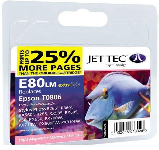 Купить Картридж Jet Tec E80LM Epson Stylus Photo P50/PX660/PX720WD світло-малиновий, 110E008006