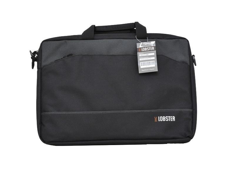 Купить Сумка для ноутбука Lobster LBS15T2BP сіра/чорна