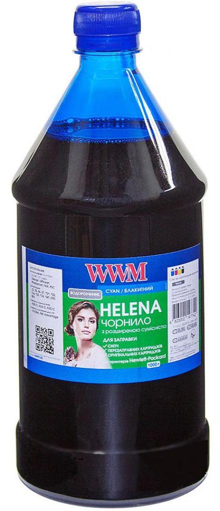 Купить Чорнило WWM HU/C-4 HP Universal HELENA (1000g) Cyan