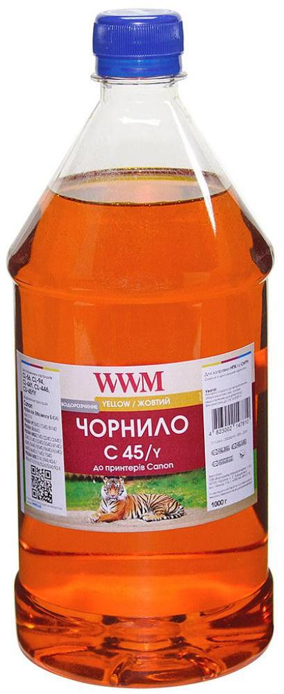 Купить Чорнило WWM C45/Y-4 Canon CL-441/CL-446/CLI-451C Yellow