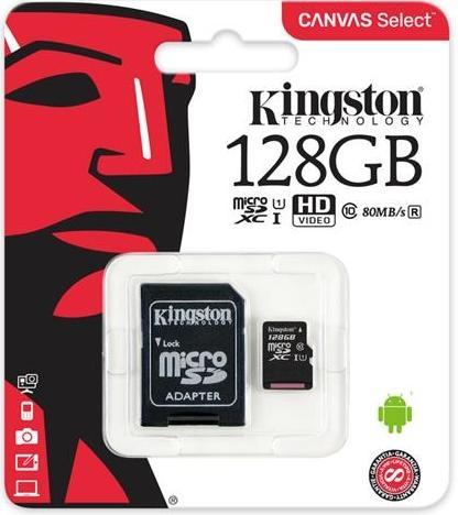 Купить Карта пам'яті Kingston Canvas Select Micro SDXC 128GB SDCS/128GB