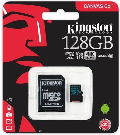 Купить Карта пам'яті Kingston Canvas Go Micro SDXC 128GB SDCG2/128GB