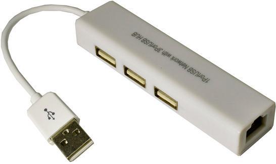 Мережева карта Dynamode MM-USB88760-GLAN White  (USB2.0-RJ45-HUB3)