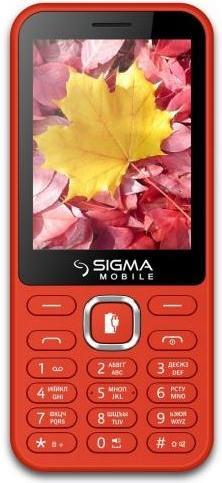 Купить Мобільний телефон SIGMA X-Style 31 Power Red
