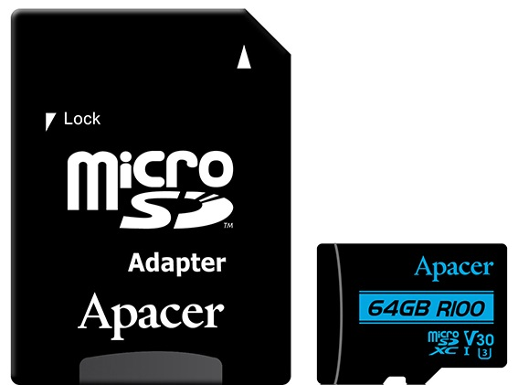 Купить Карта пам'яті Apacer Micro SDXC 64GB AP64GMCSX10U7-R