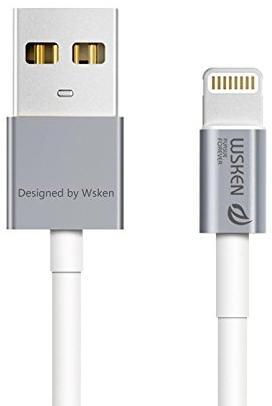 Купить Кабель WSKEN Charging Data MFI certificate AM / Lightning 1m Grey (Grey AXTM-02)