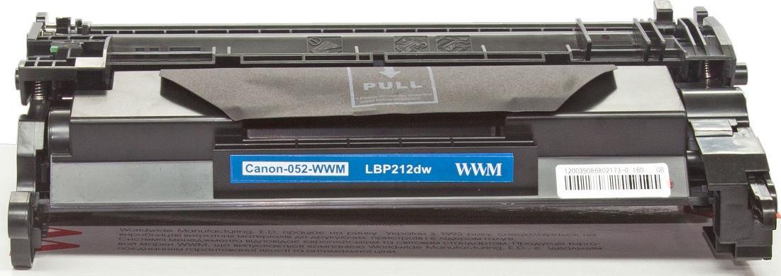 Купить Картридж WWM for Canon LBP212dw/215x/MF421dw/428/429 аналог Canon 052 Black (Canon-052-WWM)