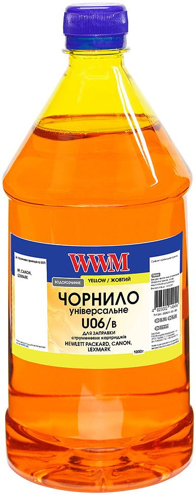 Купить Чорнило WWM універсальне Canon/HP/LEXMARK/XEROX Yellow 1000g (U06/Y-4)