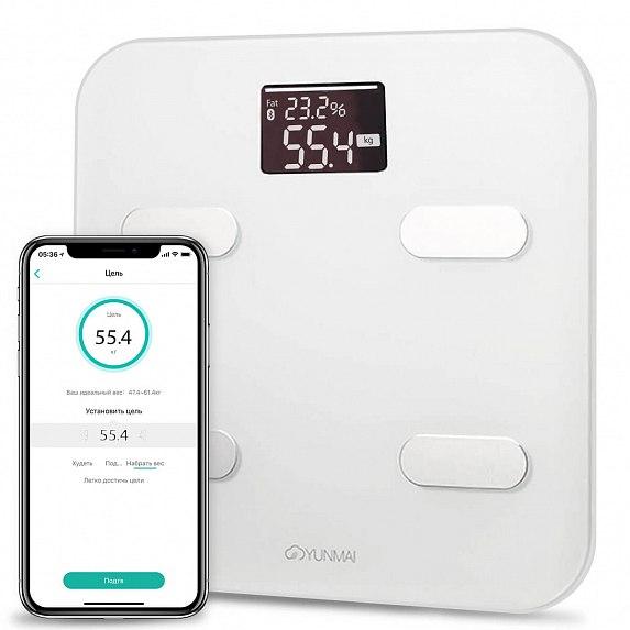 Купить Смарт-ваги YUNMAI Color Smart Scale White (M1302-WH)