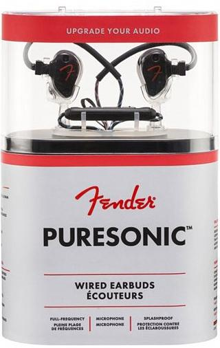 Купить Навушники та гарнітури, Гарнітура Fender Puresonic Wired Earbuds Black Metallic (PSWEBLK)