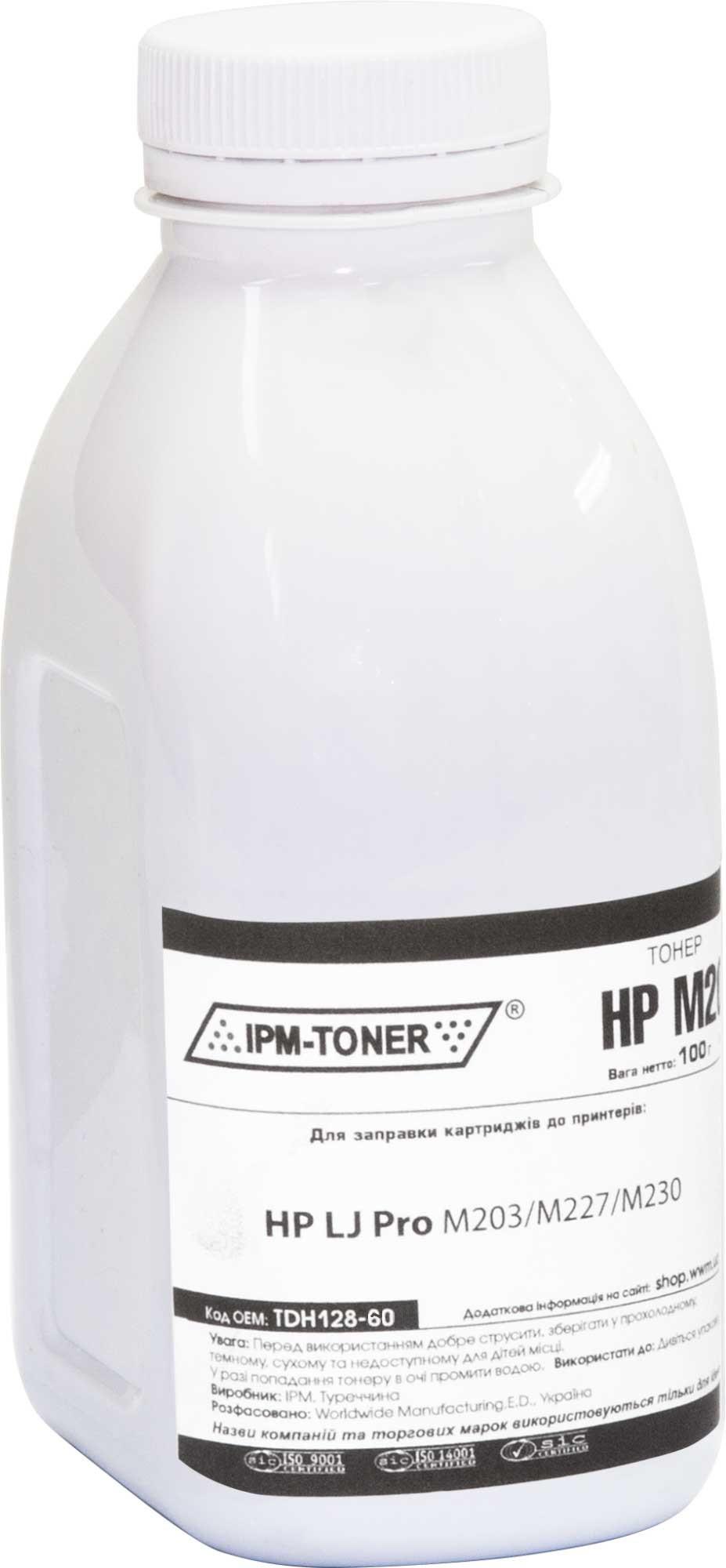 Купить Тонер IPM for HP LJ Pro M203/M227/M230 Black бутль 60g, TDH128-60
