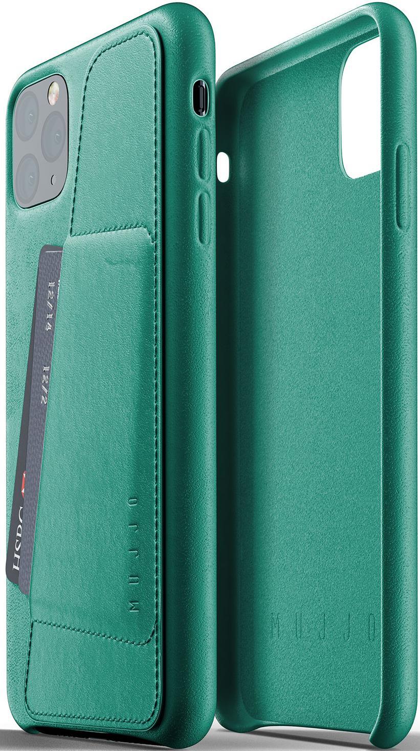 Аксесуари для мобільних телефонів, Чохол MUJJO for iPhone 11 Pro Max - Full Leather Wallet Alpine Green (MUJJO-CL-004-GR)  - купить со скидкой