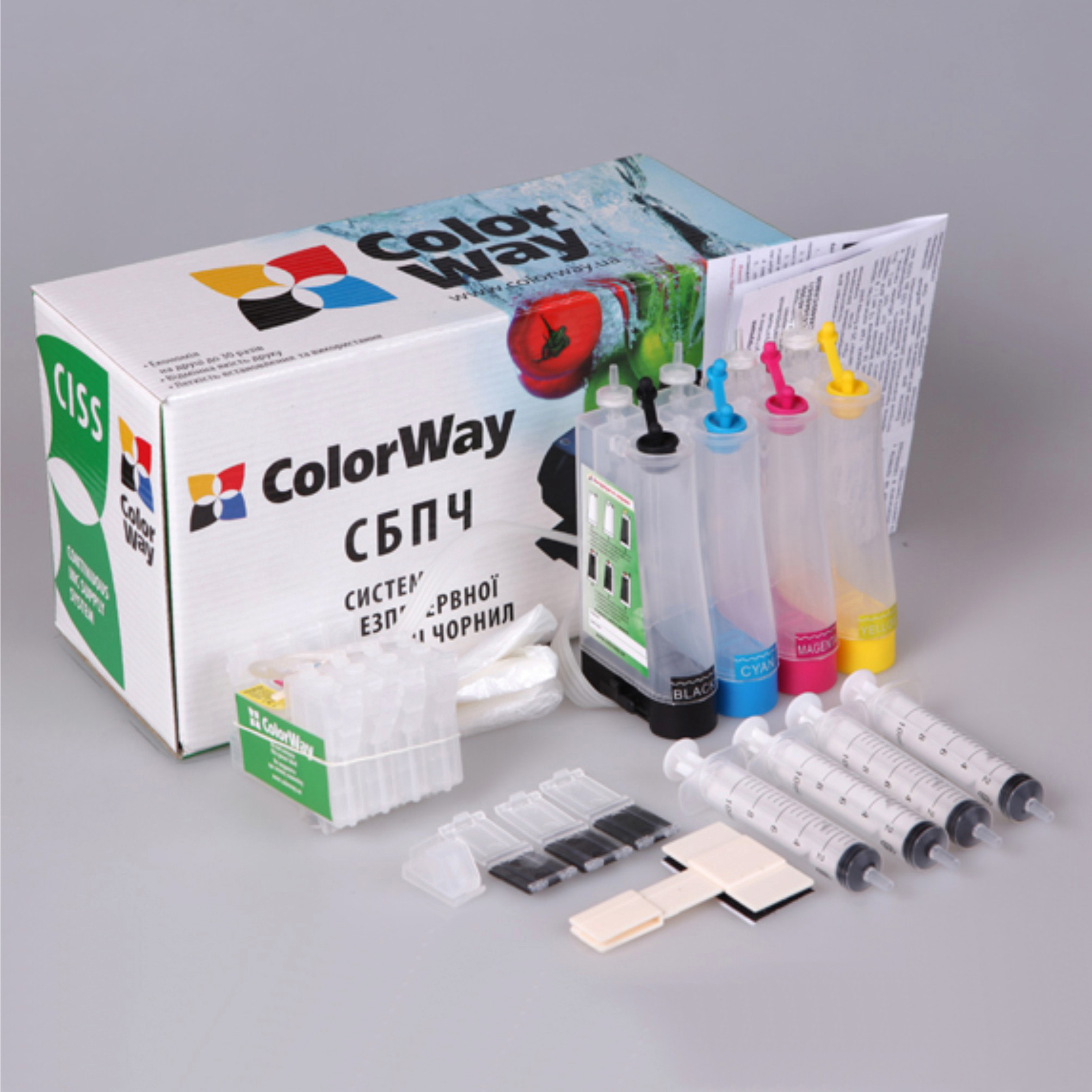 Купить Система БПЧ ColorWay T26CC-0.0 Epson Stylus C91 / CX4300 / T26 / T27 / TX106 / TX109 / TX117 / TX119