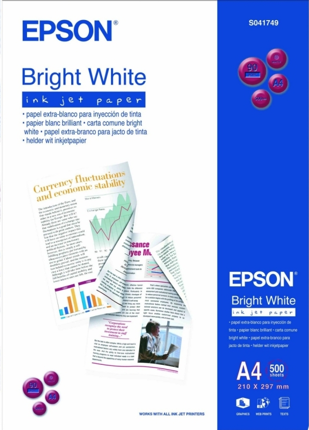 Купить Папір А4 Epson Bright White Ink Jet Paper 500 аркушів (C13S041749)