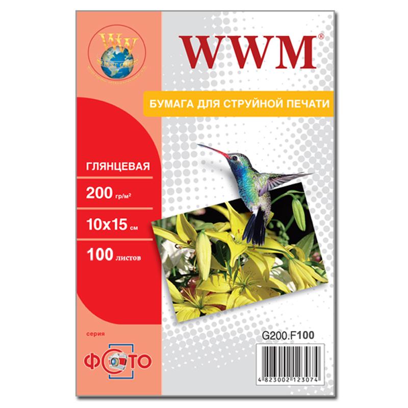 Купить Фотопапір 10х15 WWM 100 аркушів (G200.F100), G200.F100/C
