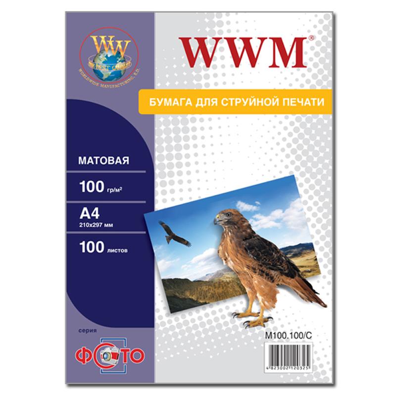 Купить Фотопапір А4 WWM 100 аркушів (M100.100)
