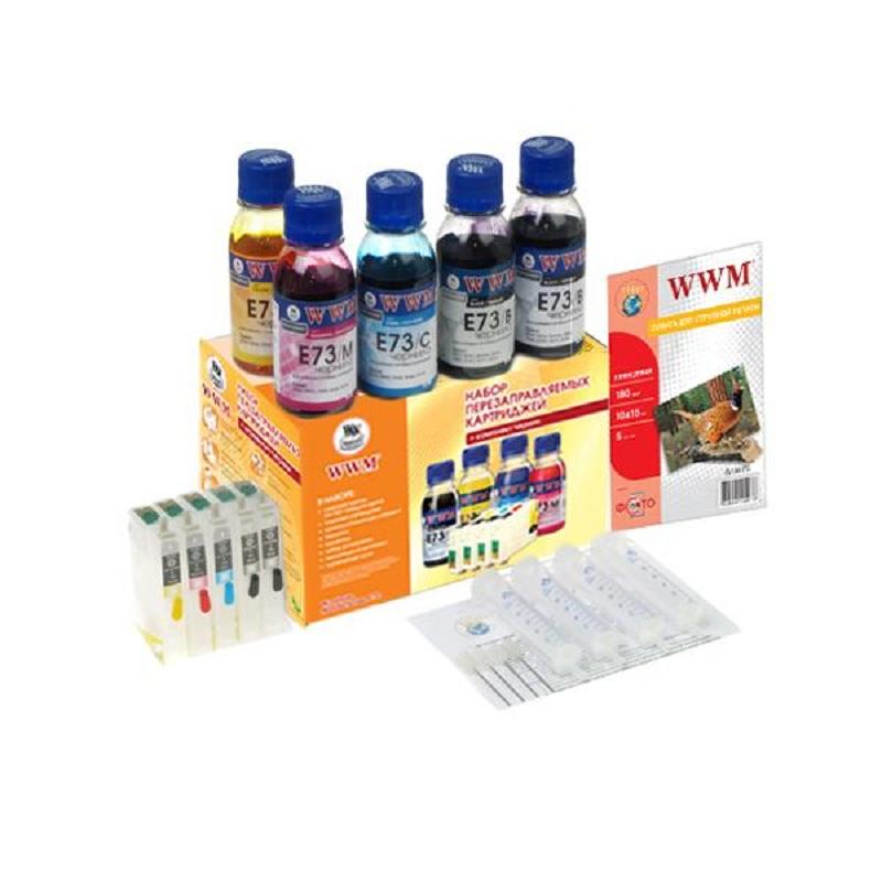 Купить Комплект перезаправних картриджів WWM EPSON Stylus C110/Office T30/TX510FN (RC.T073H)
