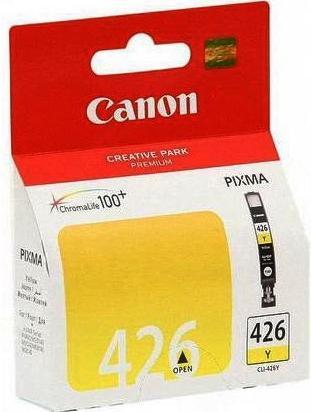 Купить Картридж Canon CLI-426 IP4840, MG5140, MG5240 жовтий, 4559B001