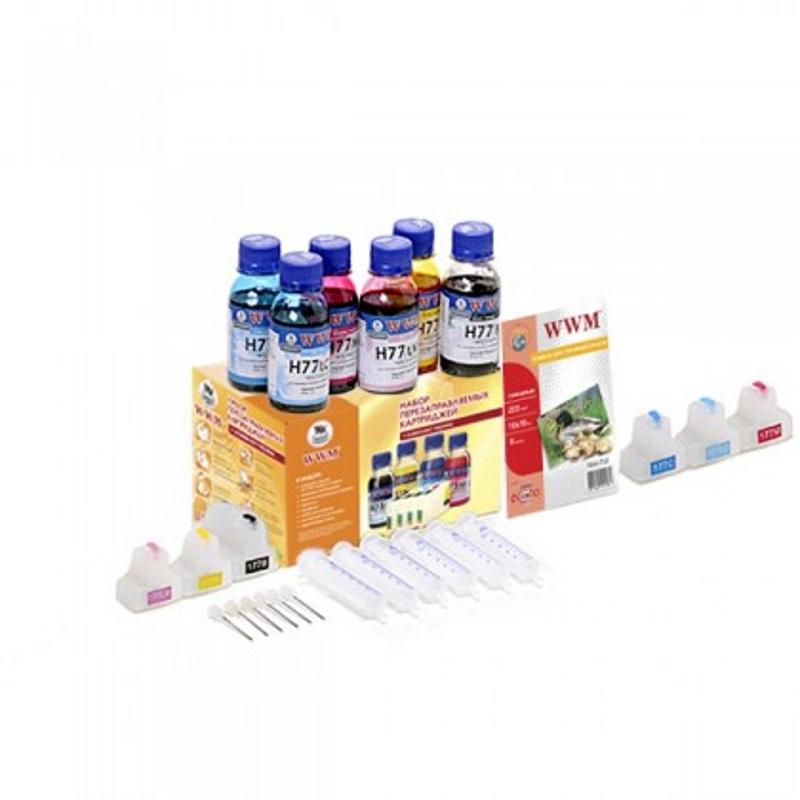 Купить Комплект перезаправних картриджів WWM HP Photosmart №177 (RC.HP177A)