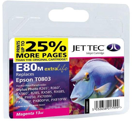 Купить Картридж Jet Tec E80M Epson Stylus Photo P50/PX660/PX720WD малиновий, 110E008003