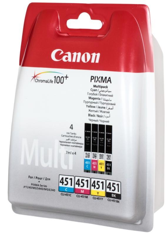 Купить Комплект картриджів Canon CLI-451, 6524B004