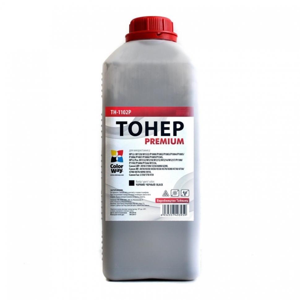 Купить Тонер Colorway HP LJ P1102/P1606, Canon 725/728 чорний, TH-1102P-0.5B