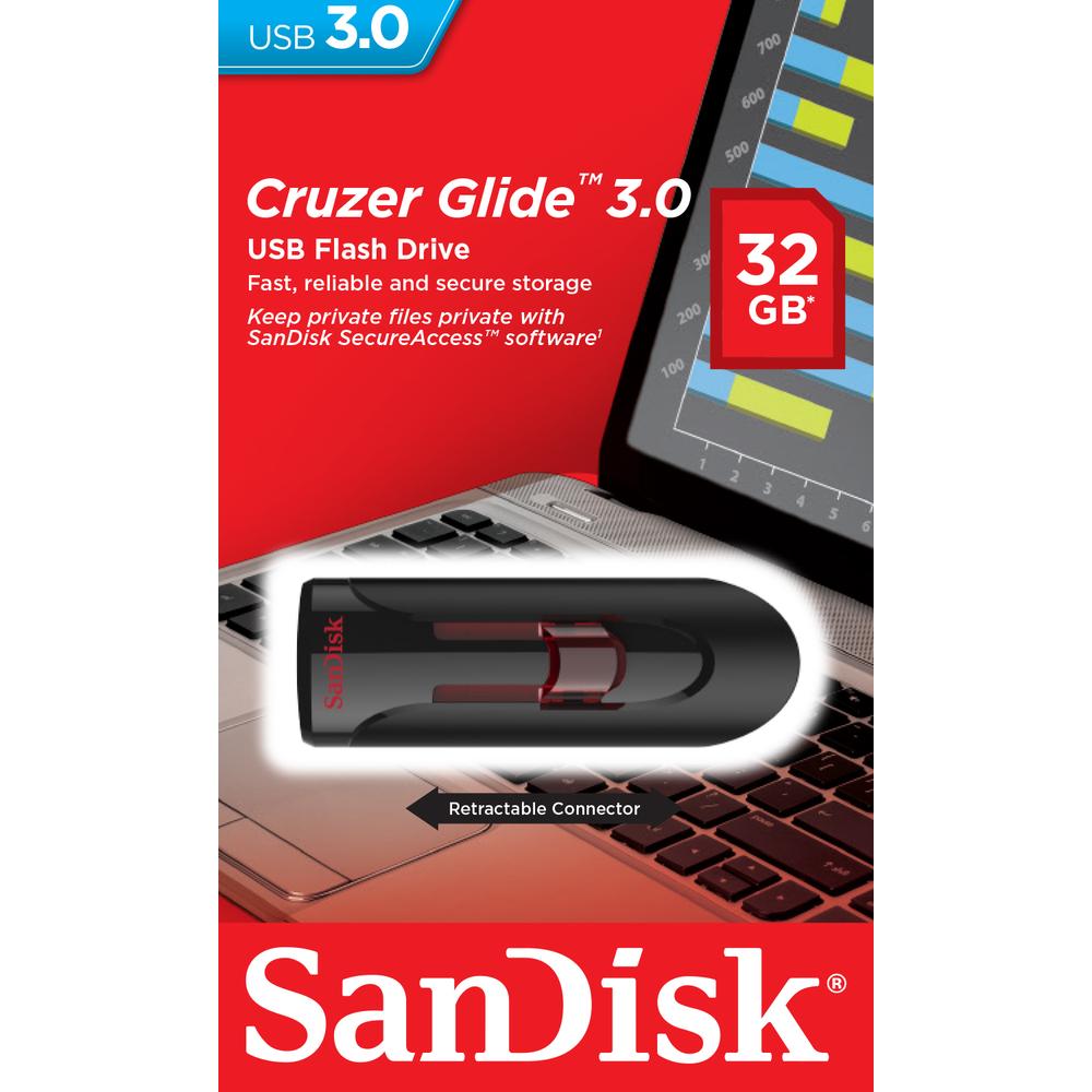 Купить Флешка USB SanDisk Cruzer Glide 32 ГБ (SDCZ600-032G-G35)