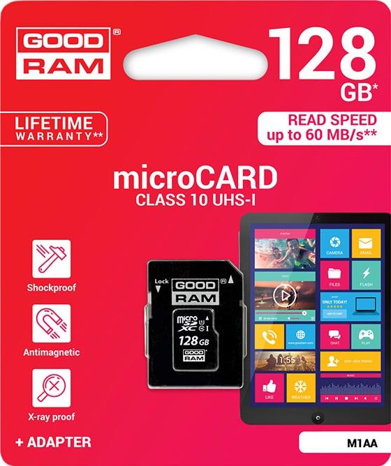 Купить Карта пам'яті GOODRAM Micro SDXC 128 ГБ (M1AA-1280R11)