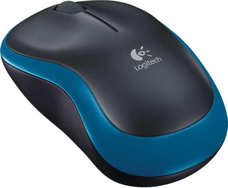 Купить Мишка Logitech M185 чорно-синя, 910-002239