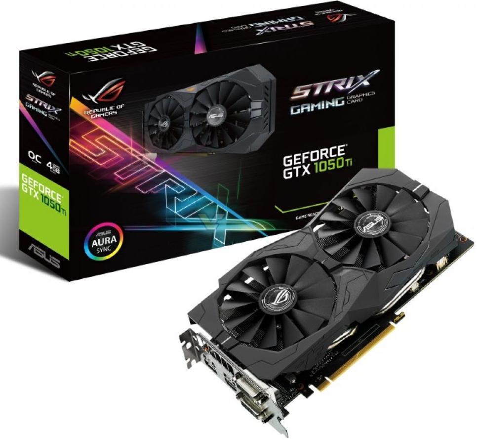 Купить Відеокарта ASUS GTX 1050 TI (STRIX-GTX1050TI-4G-GAMING)