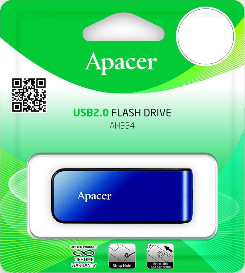 Купить Флешка USB Apacer AH334 8GB AP8GAH334U-1 Blue