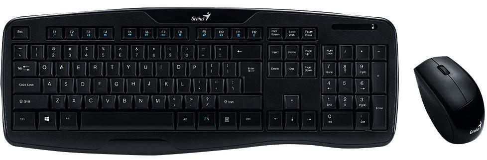 Купить Комплект клавіатура+миша Genius Genius KB-8000X Wireless Black (31340005103)