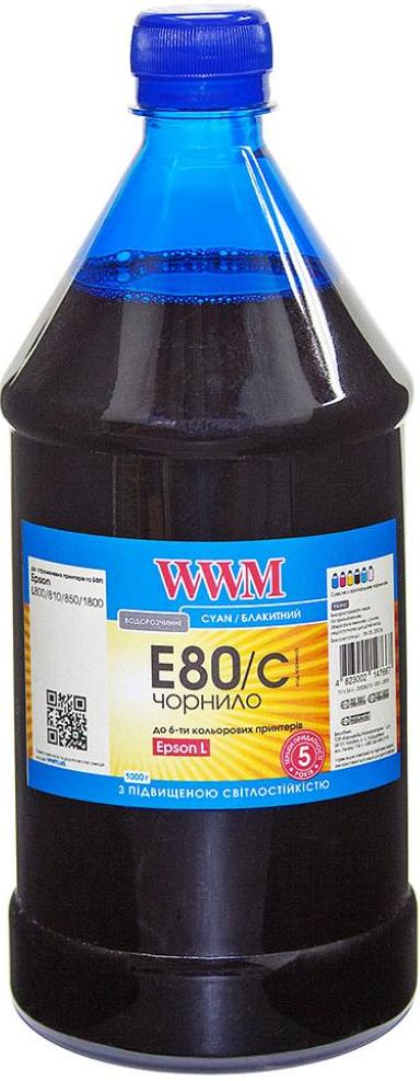 Купить Чорнило WWM E80/C-4 Epson L800 Cyan