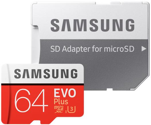Купить Flash пам'ять, Карта пам'яті Samsung Evo Plus Micro SDXC 64GB MB-MC64GA/RU