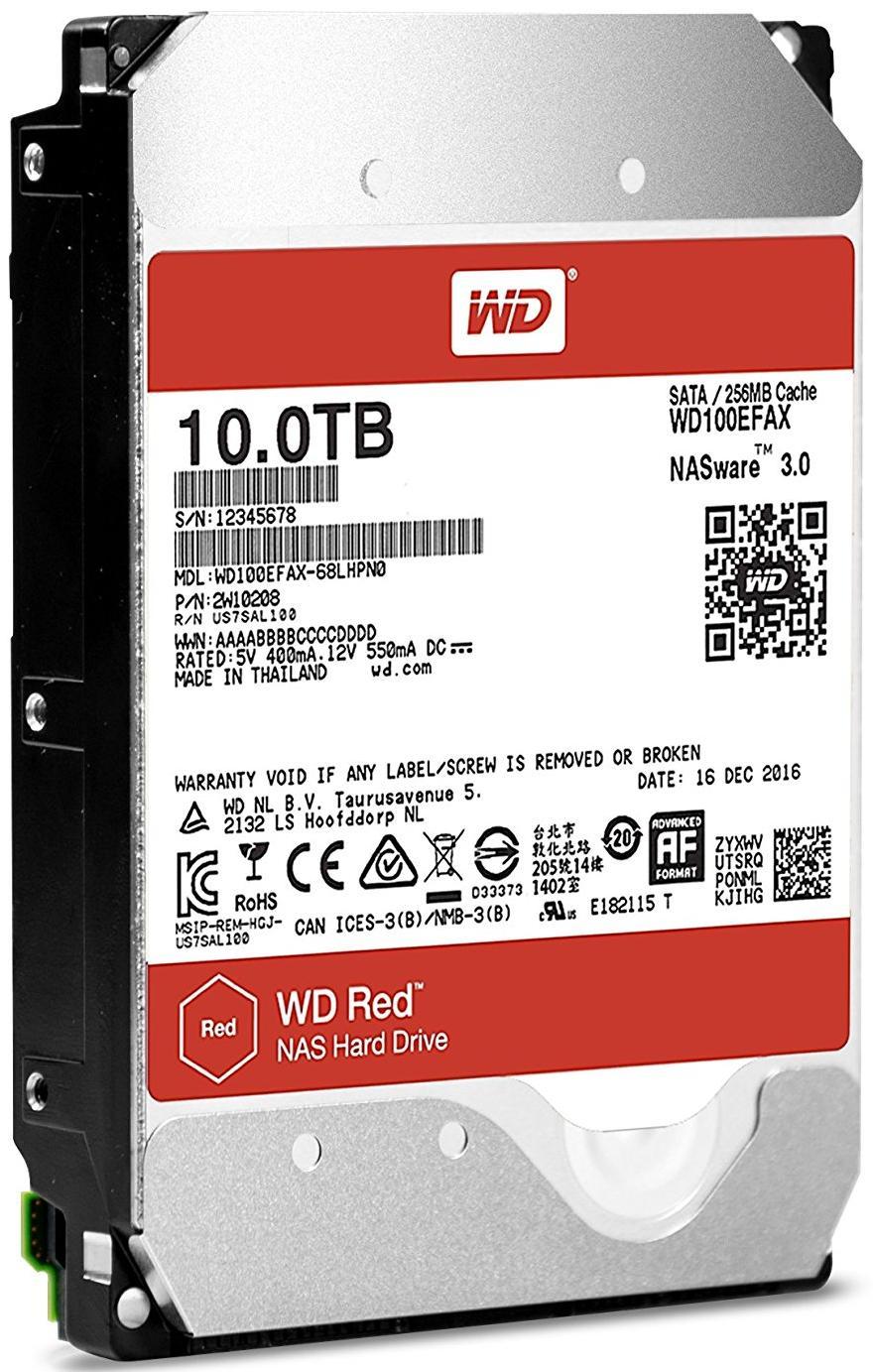 Купить Жорсткий диск Western Digital Red 10 TB WD100EFAX