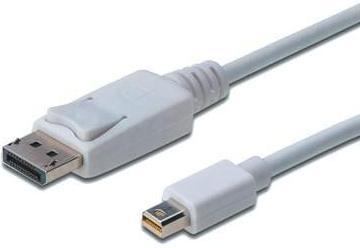Купить Аксесуари для моніторів та відеокабелі, Кабель Digitus MiniDP to DP 1m White, AK-340102-010-W