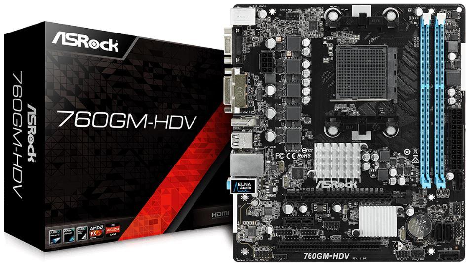 Купить Материнська плата AsRock 760GM-HDV
