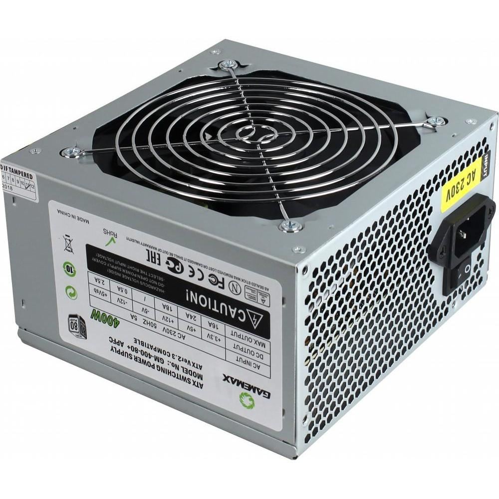 Купить Блок живлення Gamemax GM-400W-80 400W (GM-400W-80+APFC)