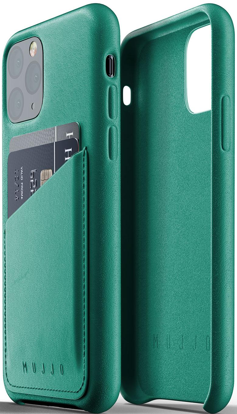 Купить Аксесуари для мобільних телефонів, Чохол MUJJO for iPhone 11 Pro - Full Leather Wallet Alpine Green (MUJJO-CL-002-GR)