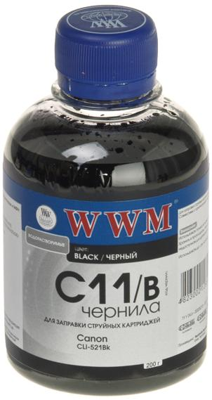 Купить Чорнила WWM CANON CL-521/CLI426Bk Black (C11/B) (200 г.), C11/B_200g