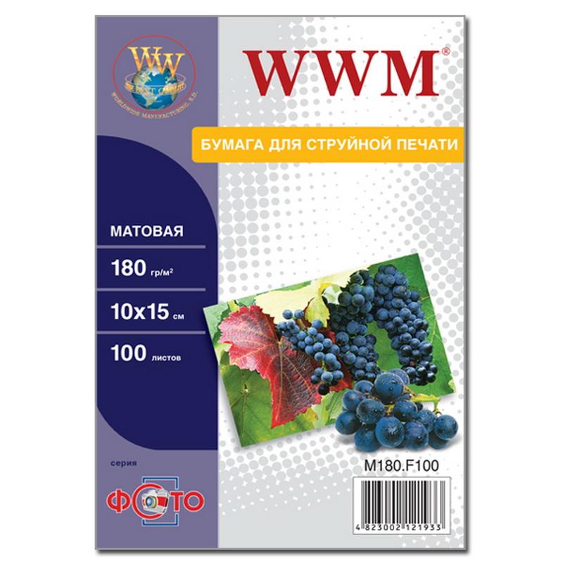 Купить Фотопапір 10х15 WWM 100 аркушів (M180.F100)