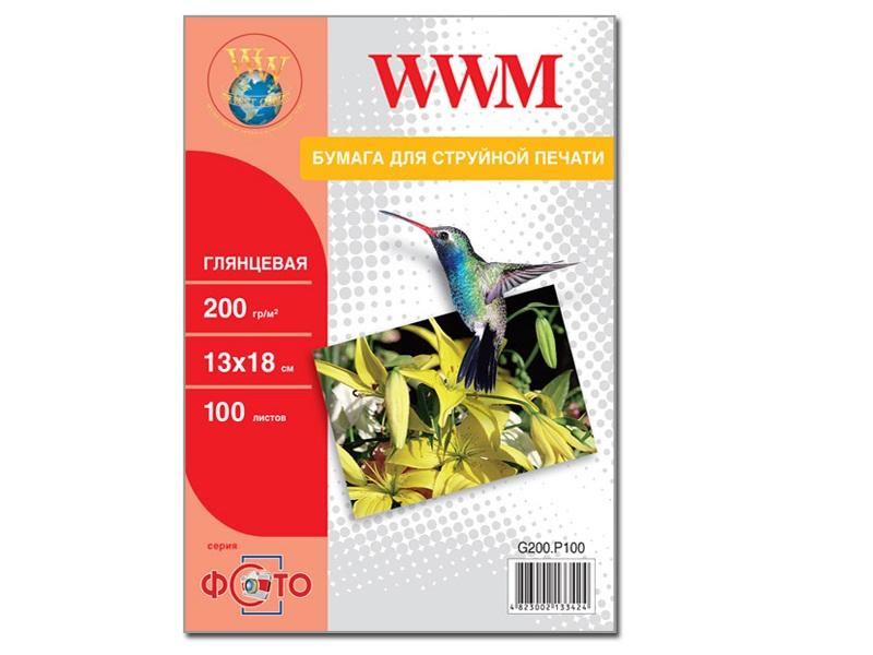 Купить Фотопапір 13х18 WWM 100 аркушів (G200.P100)