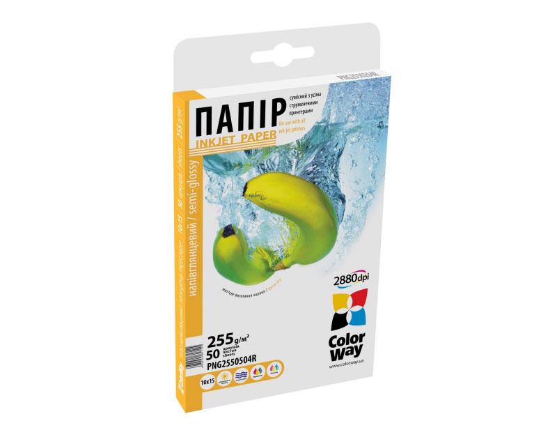 Купить Фотопапір A4 ColorWay 50 аркушів (PNG255050A4)