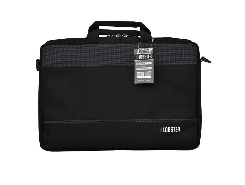 Купить Сумка для ноутбука Lobster LBS15T2B сіра/чорна