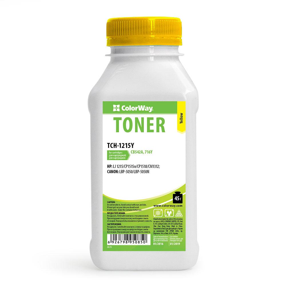 Купить Тонер ColorWay HP CLJ CP1215/1515 жовтий, TCH-1215Y