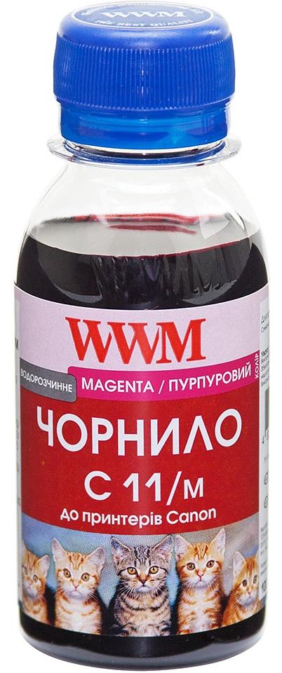 Чорнило WWM C11/M-2 Canon CL-511С/CL-513С/CLI-521C малинове  - купить со скидкой