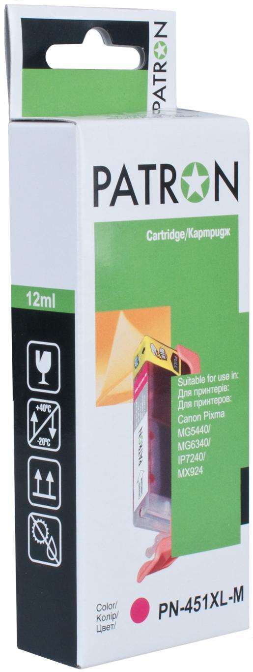Купить Картридж Patron Canon CLI-451XLM малиновий, CI-CAN-CLI-451-M-PN