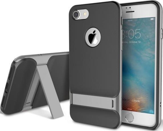 Купить Чохол Rock для iPhone 7 - Royce Series сірий, Rock iPhone 7 Royce