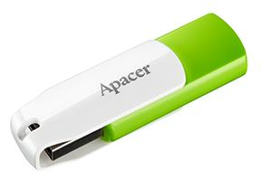 Купить Флешка USB Apacer AH335 16GB Green/White (AP16GAH335G-1)