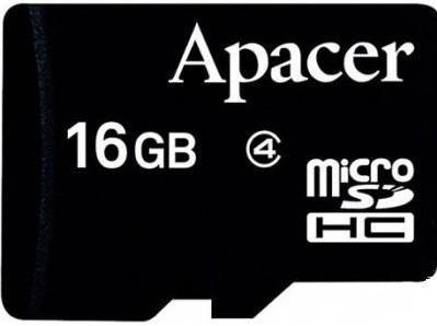 Купить Flash пам'ять, Карта пам'яті Apacer Micro SDHC 16GB AP16GMCSH4-RA